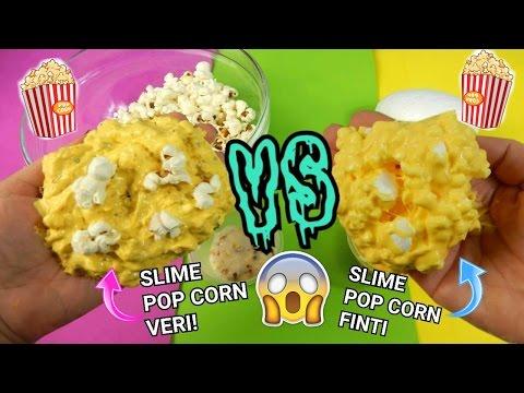 SLIME POP CORN VERI CONTRO SLIME POP CORN FINTI (QUAL E' MEGLIO E CRUNCHY?) + ASMR Iolanda Sweets