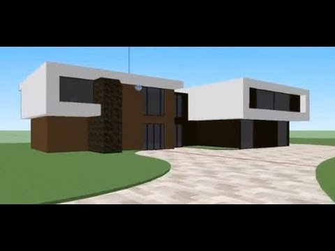 Modern house tutorial google sketchup youtube for Minimalist house sketchup