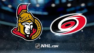 Foegele has two points in NHL debut, Canes top Sens