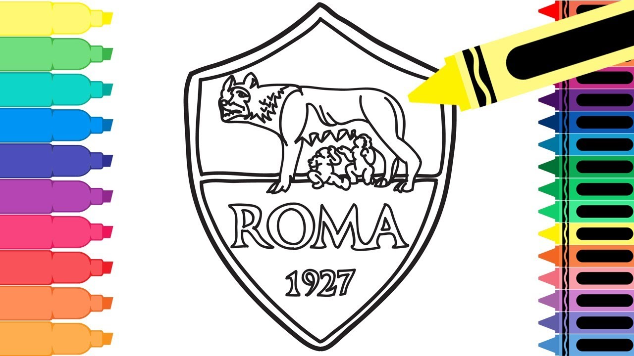How To Draw As Roma Badge Drawing The Roma Logo Coloring Pages For Kids Tanimated Toys Youtube