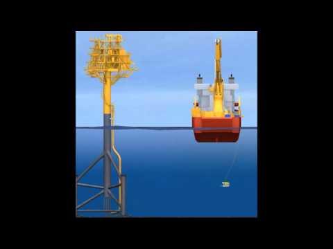 Oil Platform Caisson Instalation
