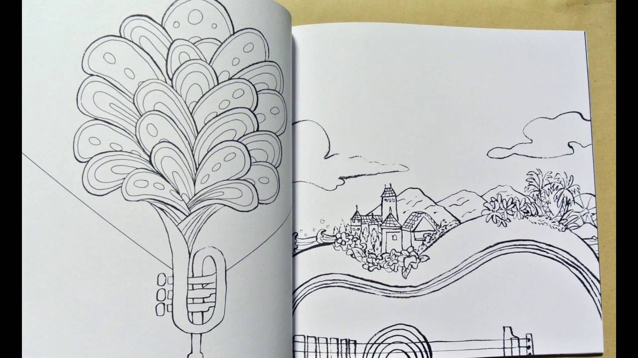 Urban Outliners Series Lost In Stereo Coloring Book For Adults