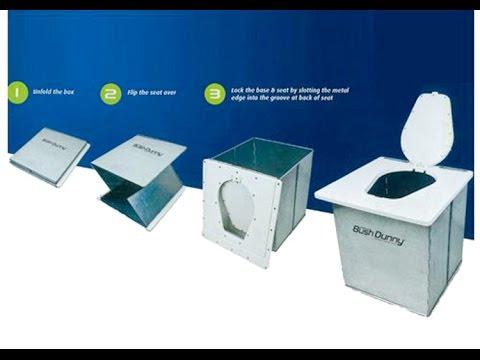 Portable Camping Toilet : Kookaburra bush dunny portable camping toilet youtube