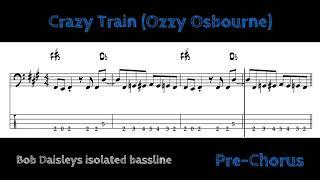 Ozzy Osbourne - Crazy Train (isolated bassline with tabs)