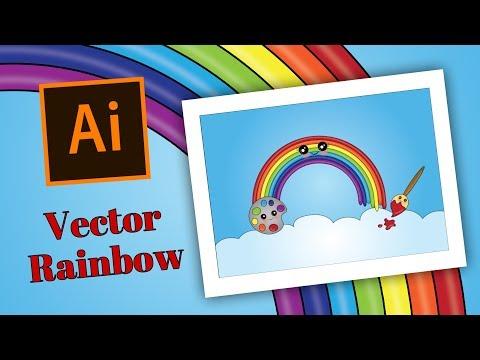Adobe Illustrator Tutorial - Vector Rainbow thumbnail