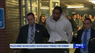 Police make 2nd arrest in robbery that led to NYPD friendly fire death