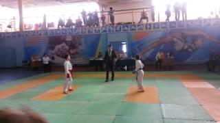 Соревнования по каратэ 1 бой дети 8-9 лет Усть-Каменогорск