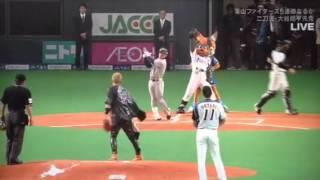 14/05/04 札幌ドーム・始球式本番 ストライク宣言してたはずが...?w フ...