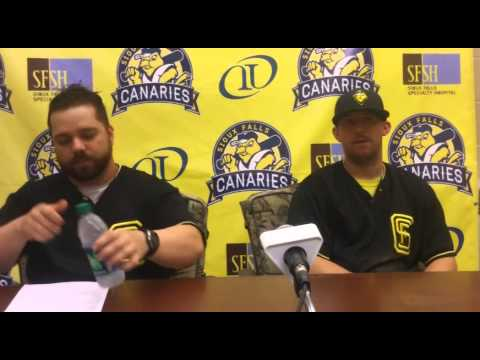 Sioux Falls Canaries Post-Game Press Conference 6/29/15