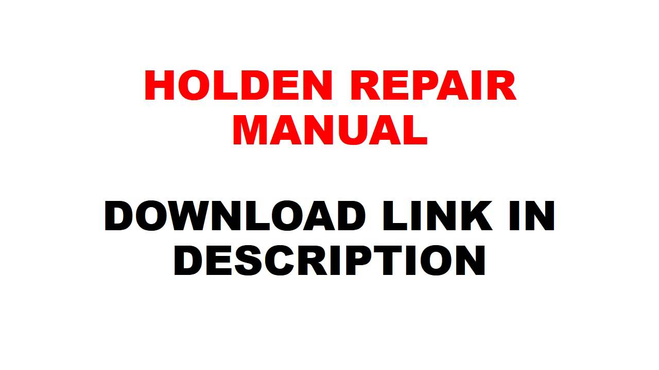 small resolution of holden colorado rodeo 2007 2008 2009 2010 2011 2012 repair manual