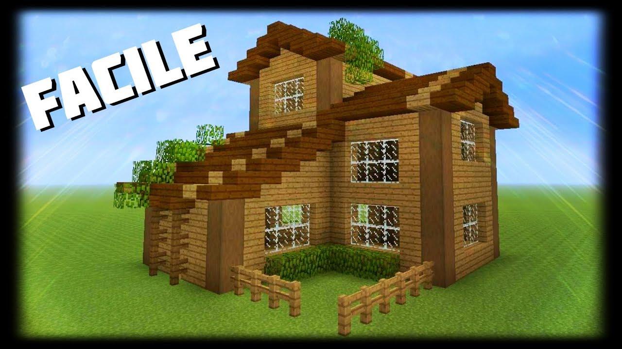 Minecraft Comment Faire Une Belle Maison En Bois Youtube