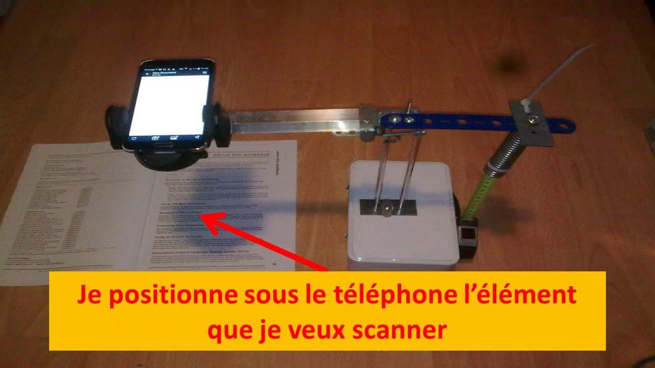 Extrem Fabriquer un scanner 📠 avec mon support de téléphone 📱 - YouTube PZ17