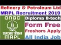 Mangalore Refinery and Petrochemicals  (MRPL) Recruitment 2019 For Various Post | Diploma B-tech
