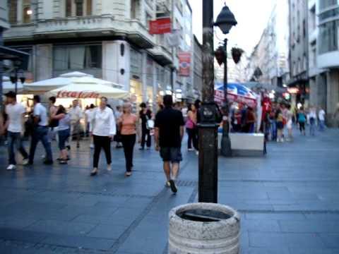 Walking in Belgrade, Serbia
