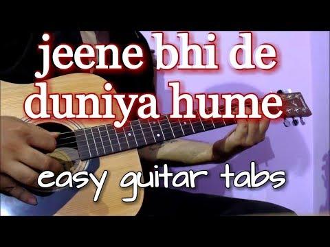 Jeene Bhi De Duniya Humein - Easy Guitar Tabs Lesson | Yaseer Desai