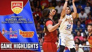 San Miguel Alab Pilipinas vs Saigon Heat | HIGHLIGHTS | 2017-2018 ASEAN Basketball League