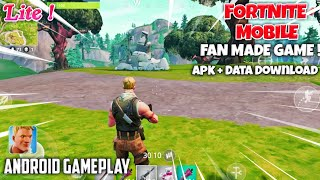 Fortnite Mobile Lite Apk+data Download On Android | Fortnite Mobile Fan Made Android Gameplay