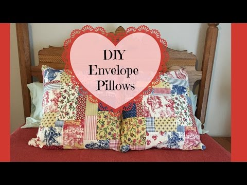 DIY Envelope Pillow Covers Using Thrifted Curtain Valance Sewing Project