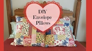 DIY Envelope Pillow Covers Using Thrifted Curtain Valance Sewing Project(, 2016-11-15T01:07:26.000Z)