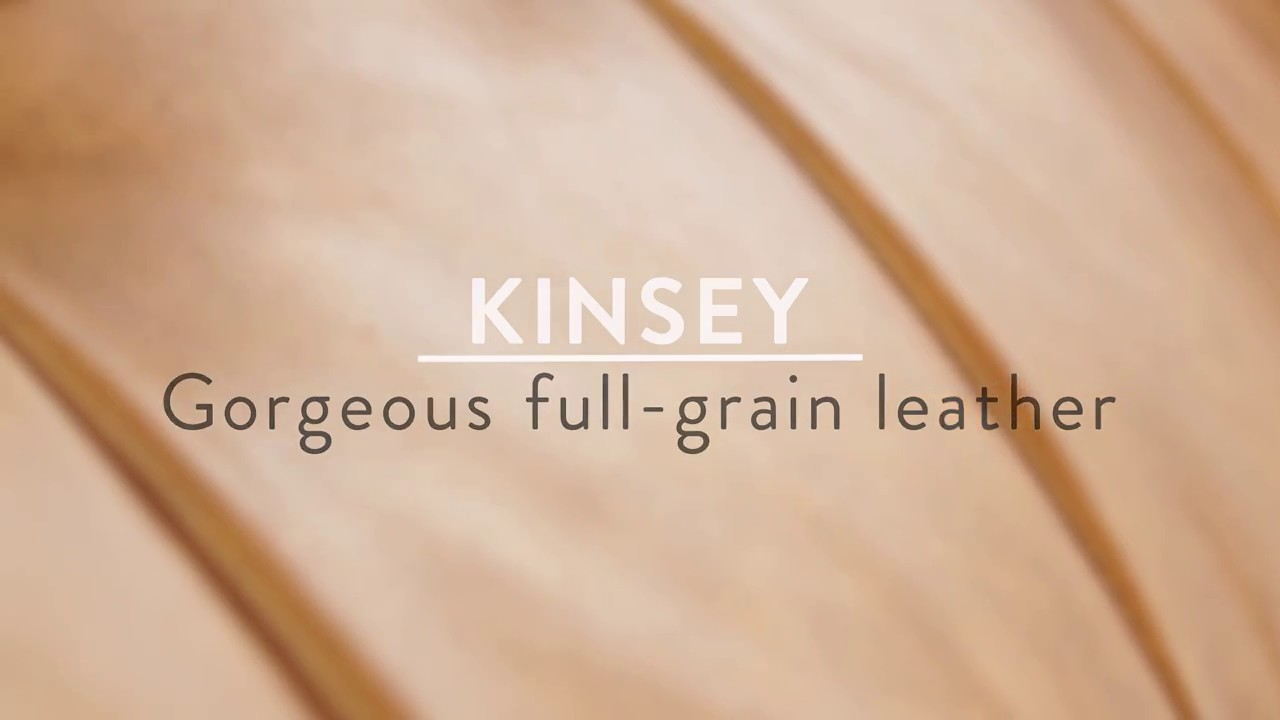 KINSEY - 100 % leather 3-seater sofa