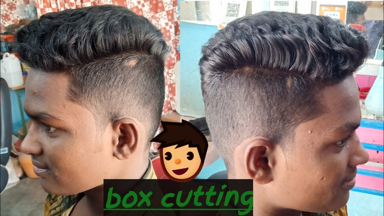 Men S Box Cut Hairstyle Youtube
