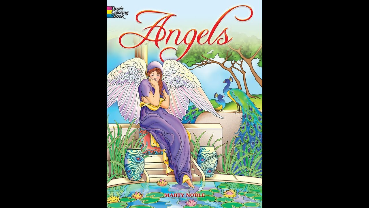 Flip Through Dovers Angels Coloring Book By Marty Noble Creative Endeavours