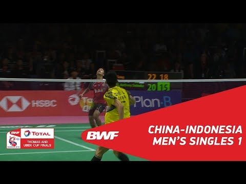Thomas Cup | MS1 | CHEN Long (CHN) vs Anthony Sinisuka GINTING (INA) | BWF 2018