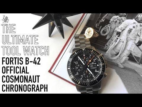 When A Big Watch Is Done Perfectly! - The Fortis B-42 Official Cosmonaut Chronograph Watch Review