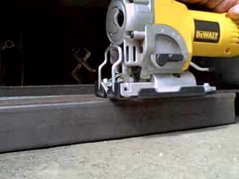 Dewalt Jigsaw Cutting Steel Tubing Like Butter Youtube