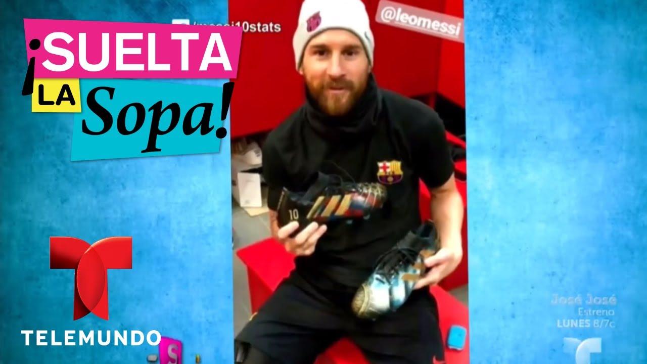 Messi presume de su nuevo calzado  991d4e70a1788