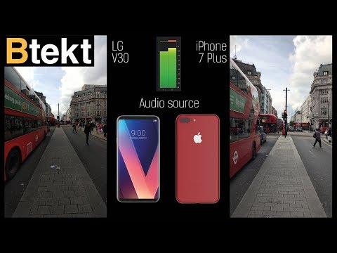 LG V30 vs iPhone 7 Plus 4K video comparison