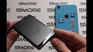 iPhone XR Dual-SIM or Triple-SIM active adapter converter Bluetooth and Wifi - SIMore E-Clips Gold
