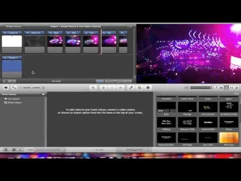 how to add text to imovie video