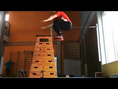 One legged box jump - 46.5 inch