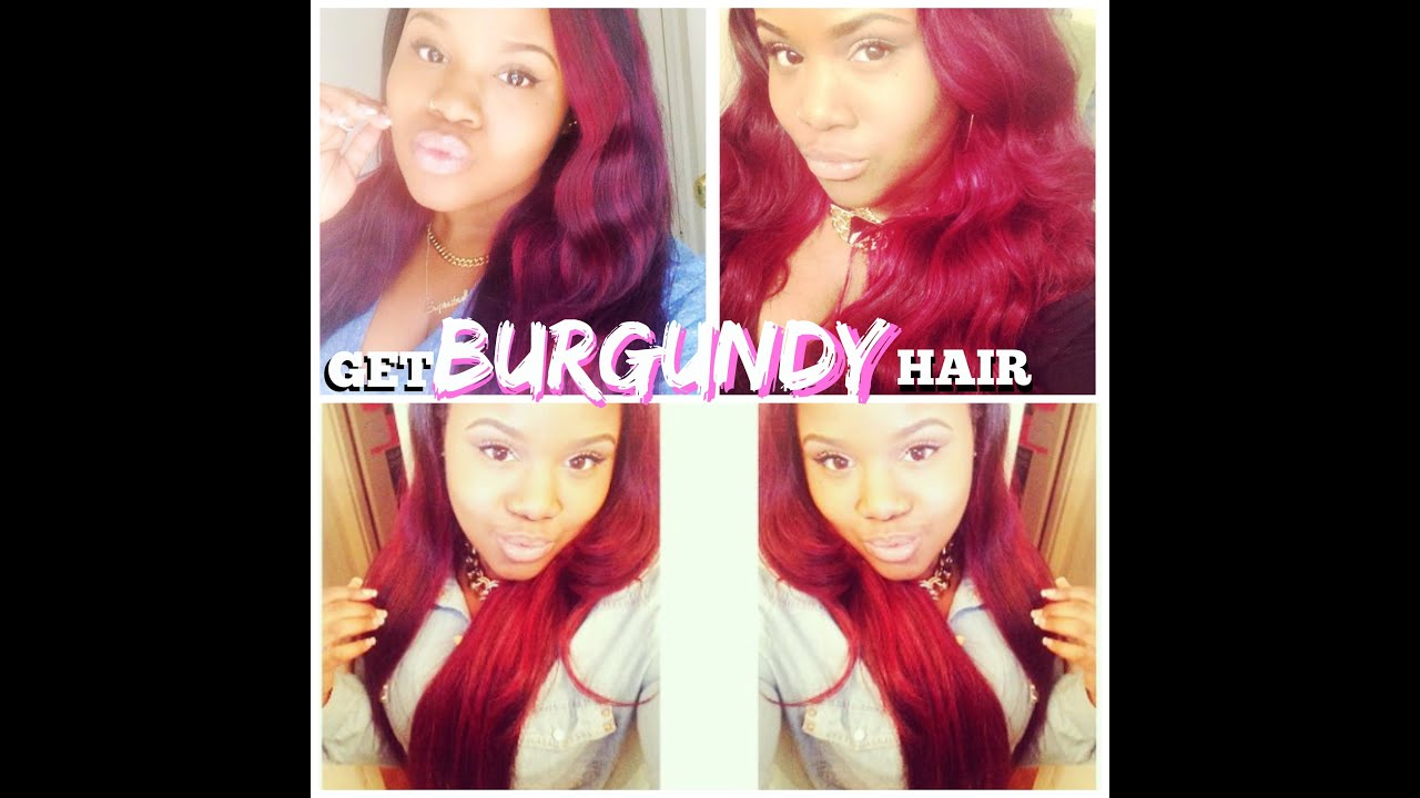 Adore hair color burgundy red dress