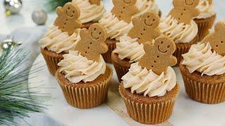3 Christmas Cupcake Recipes | Gingerbread Cupcakes, Irish Cream Cupcakes, Ferrero Rocher Cupcakes