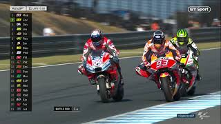 Marc Márquez and Andrea Dovizioso do battle once again | Amazing race in Japan