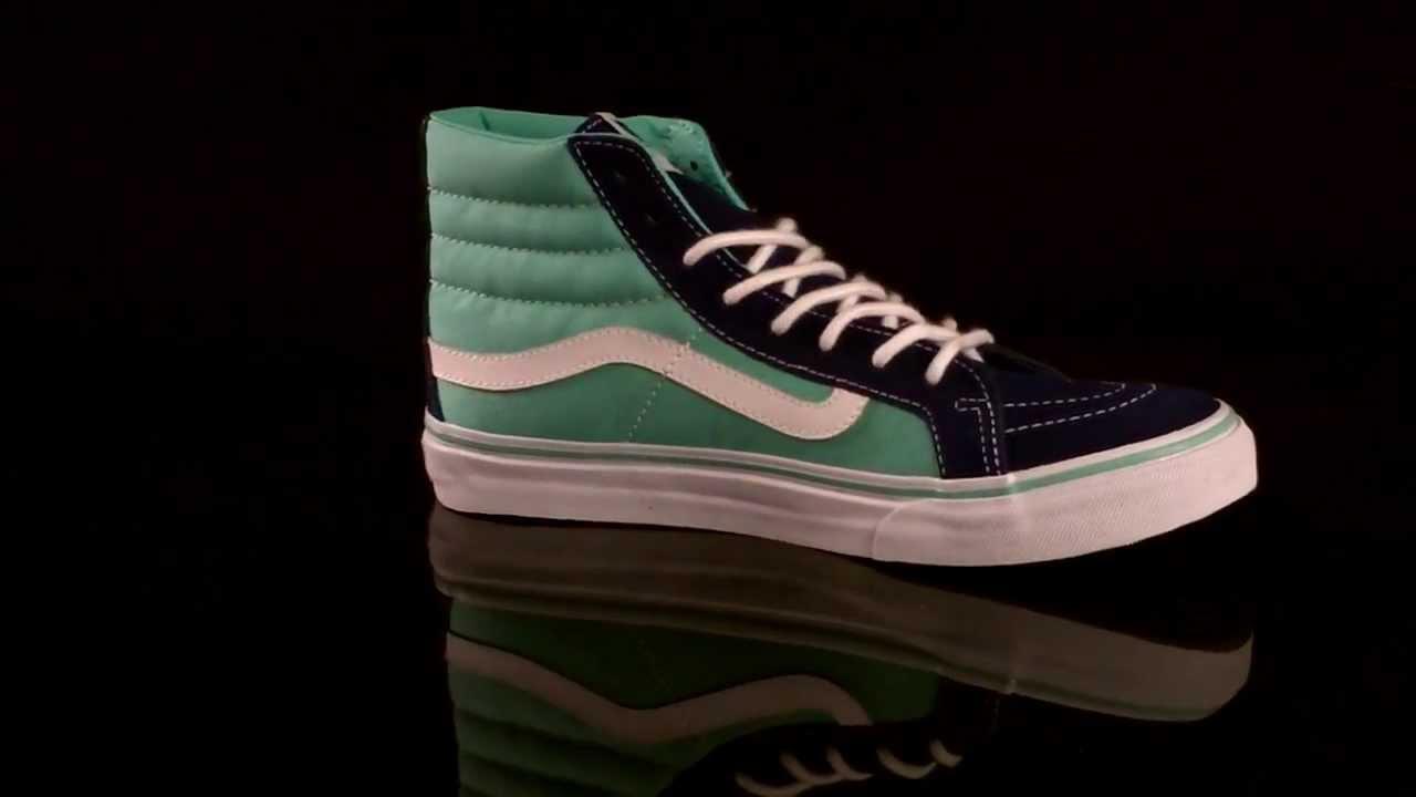 edb0f5767e4 Vans U Sk8-Hi Slim Sneaker 2-Tone Twilight Blue Co VQG3AOR - YouTube