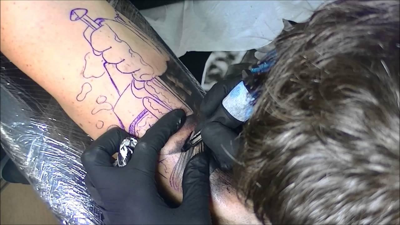36c7ecedd Jesus crucifixion tattoo - time lapse - YouTube