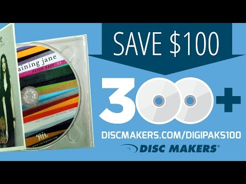 PROMOTION HAS ENDED - Save $100 on CDs in Custom Digipaks from Disc Makers