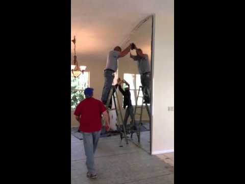 How To Take Down A Wall Length Mirror