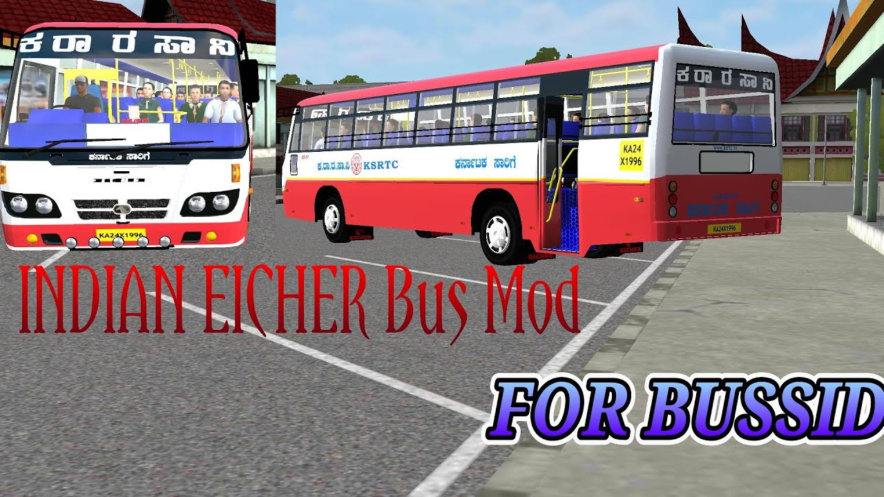 Download Indian Eicher Bussid Bus Mod Ksrtc Eicher Bus Mod Bus Simulator Indonesia Youtube