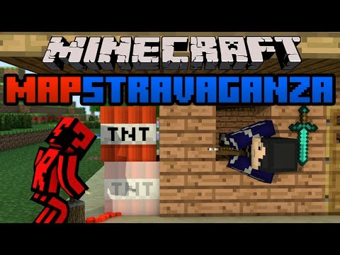 Minecraft Mapstravaganza! Curaxu 3 Cups, Horror Thing and Gun Game!