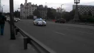 Полиция в Риге разгоняет авто для делегаций на Саммит Восточного партнерства