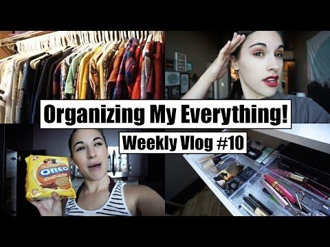 Organizing My Makeup & Closet! || Weekly Vlog #10