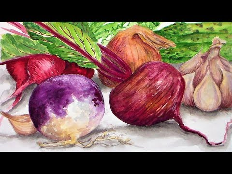LIVE! Veggies in Watercolor 12:30pm ET 2/16/18