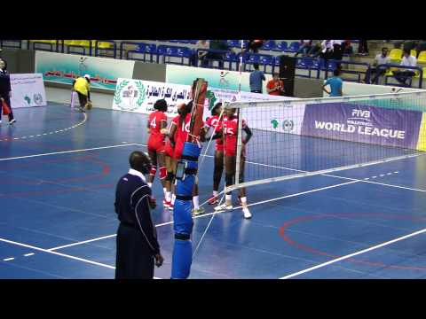 Kenya Pipeline against Shams Egypt in the semifinal of Women's African Club Champs