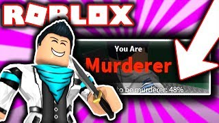BREAKING MURDERER WORLD RECORD IN ROBLOX MURDER MYSTERY 2!