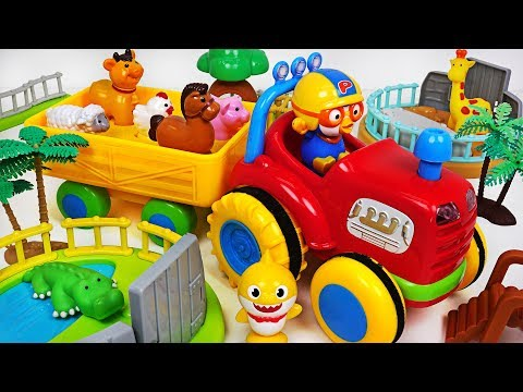 Animals are Sick! Help! Pororo~ Let's go Animal Farm Truck! - PinkyPopTOY