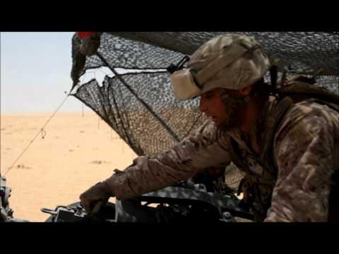 Marine Artillery Fire At Udairi Range, Kuwait